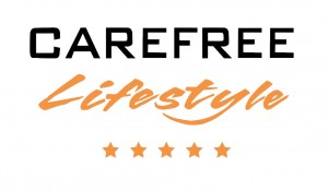 carefree - logo - white